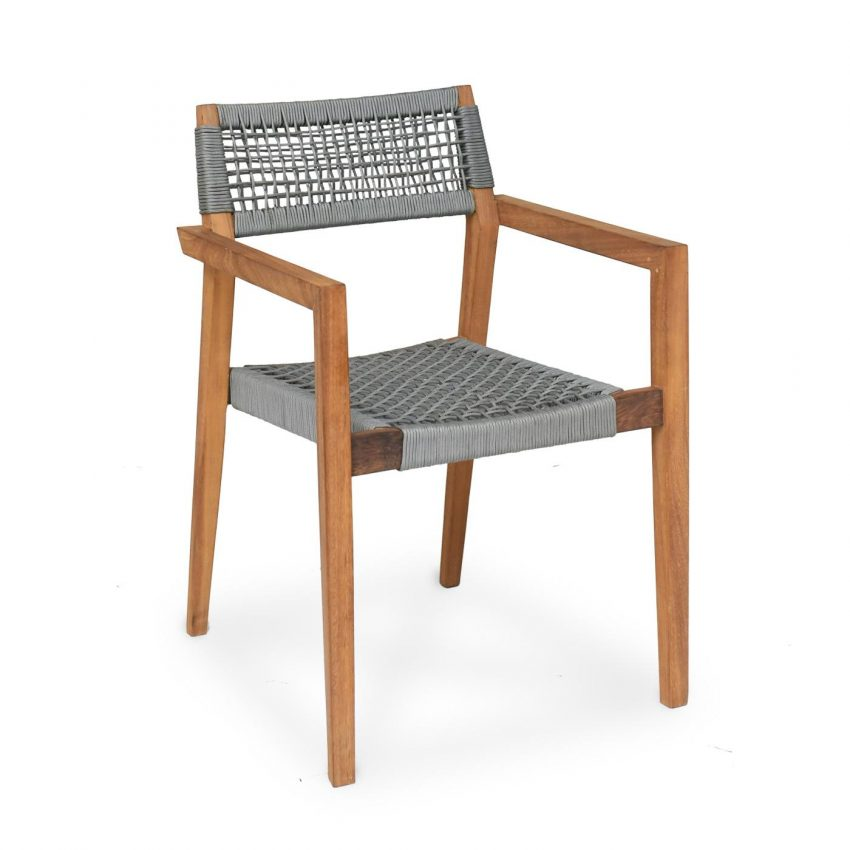Barcelona Dining Chair Grey Rope
