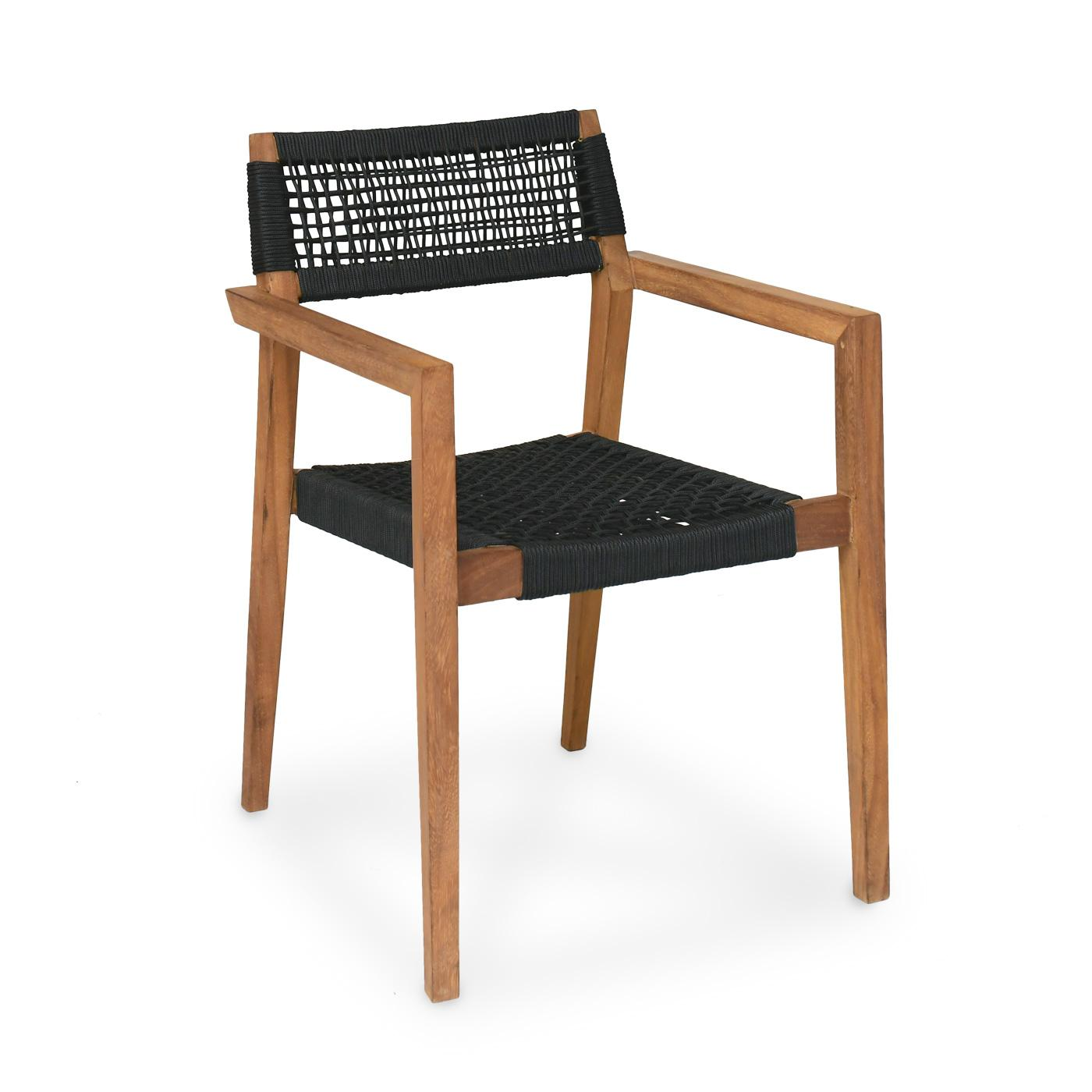 Barcelona Dining Chair Rope Black