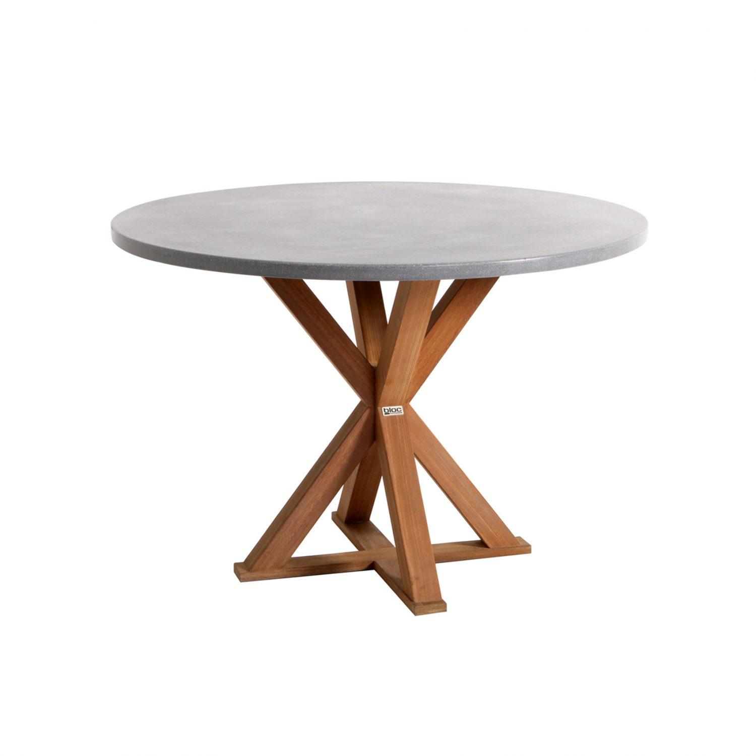 Barcelona Round Dining Table - Concrete Top