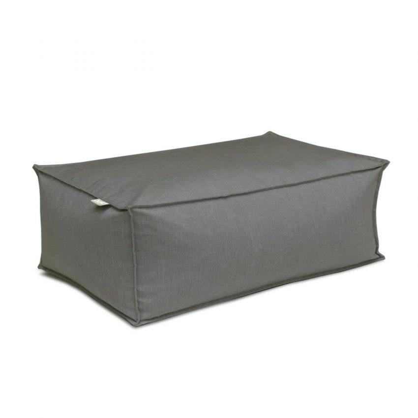 Oasis Bean Bag Ottoman Small Dark Grey
