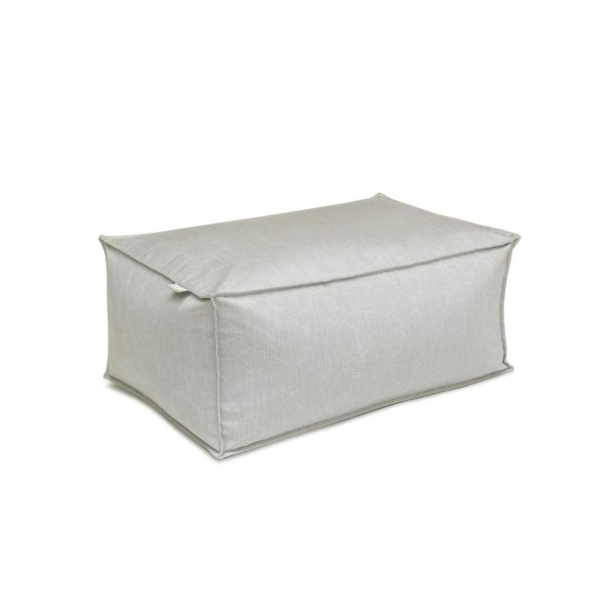 Oasis Bean Bag Ottoman Small Light Grey