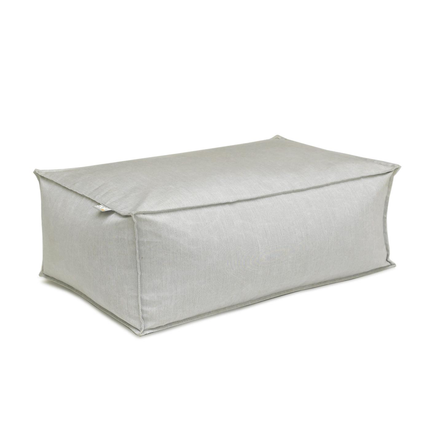 Oasis Bean Bag Ottoman Large Light Grey