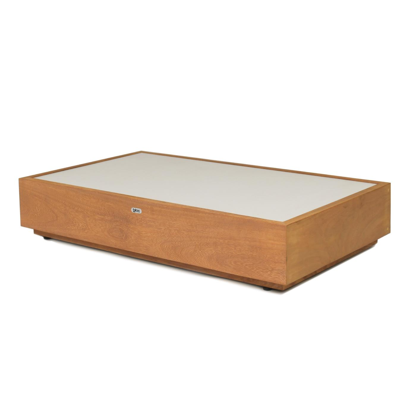 Platform Coffee Table Porcelain Ivory