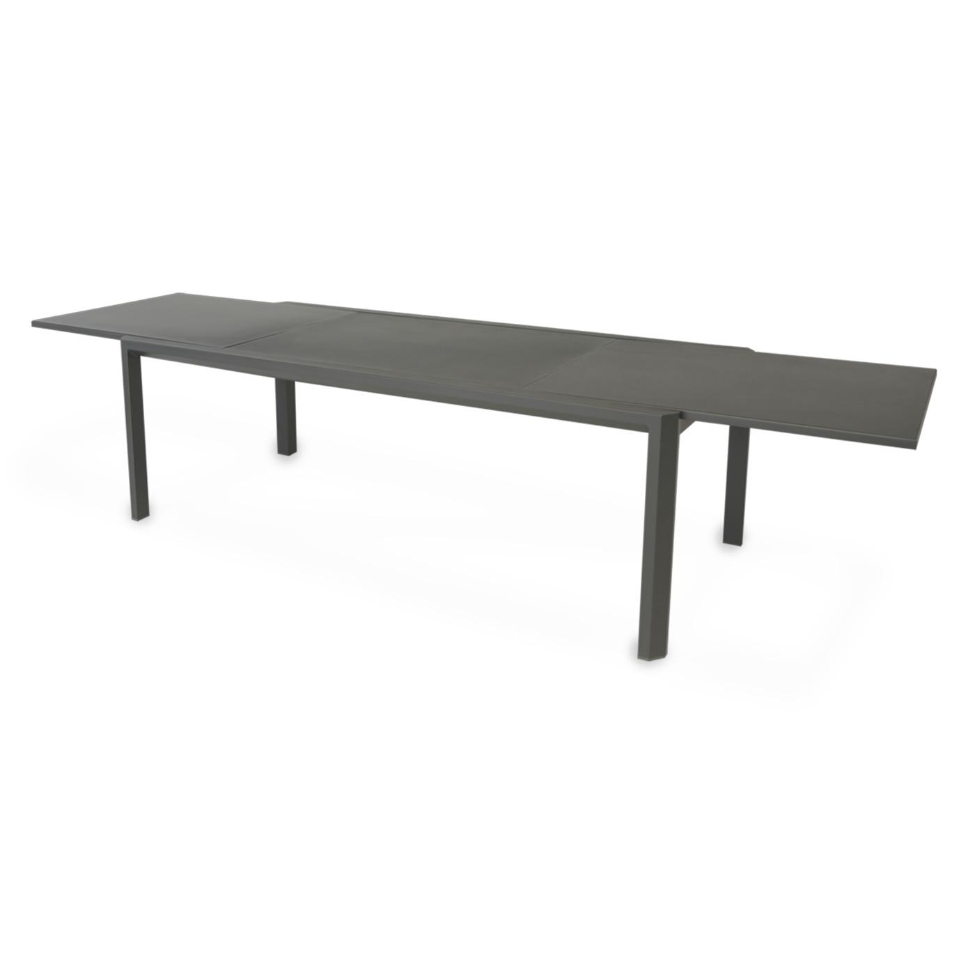 Cetus Extendable Dining Table Dark Grey