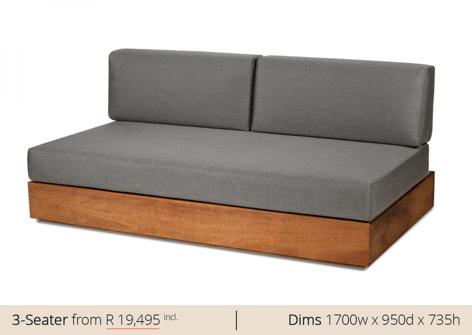 Platform 3 Seater Sofa Couch